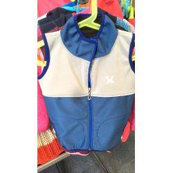 softshellová vesta modro stříbrná