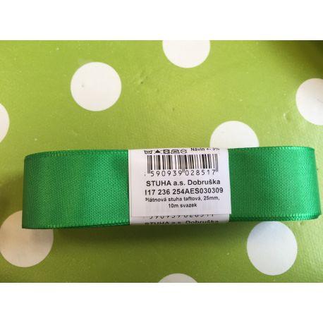 Taftová stuha zelená 15mm