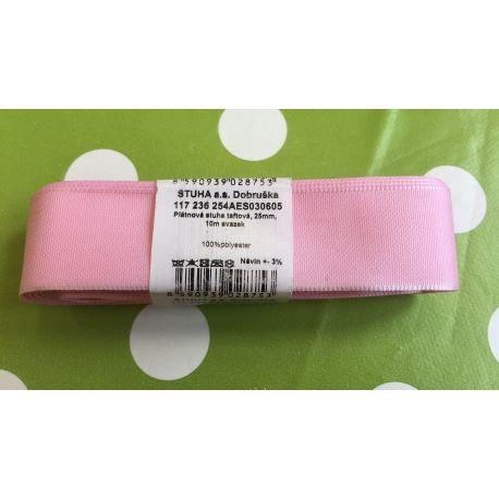 Taftová stuha tm.růžová 25mm