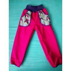 Softshellové kalhoty pro děti - teplé tučnák