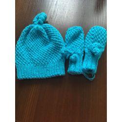 Sada rukavičky a čepička do cca 4měsíců