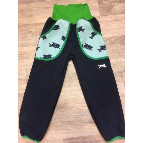 Softshellové kalhoty pro děti - teplé žralok