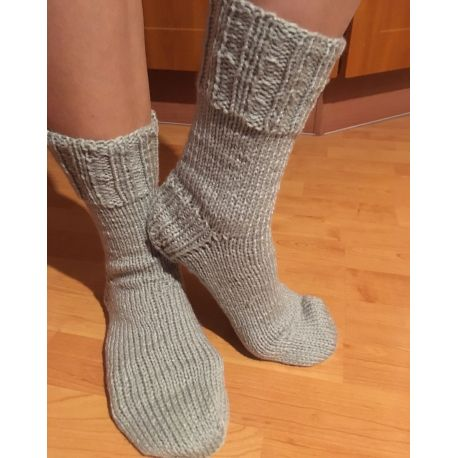 Ponožky pletené šedá