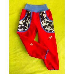 Softshellové kalhoty pro děti s fleesem