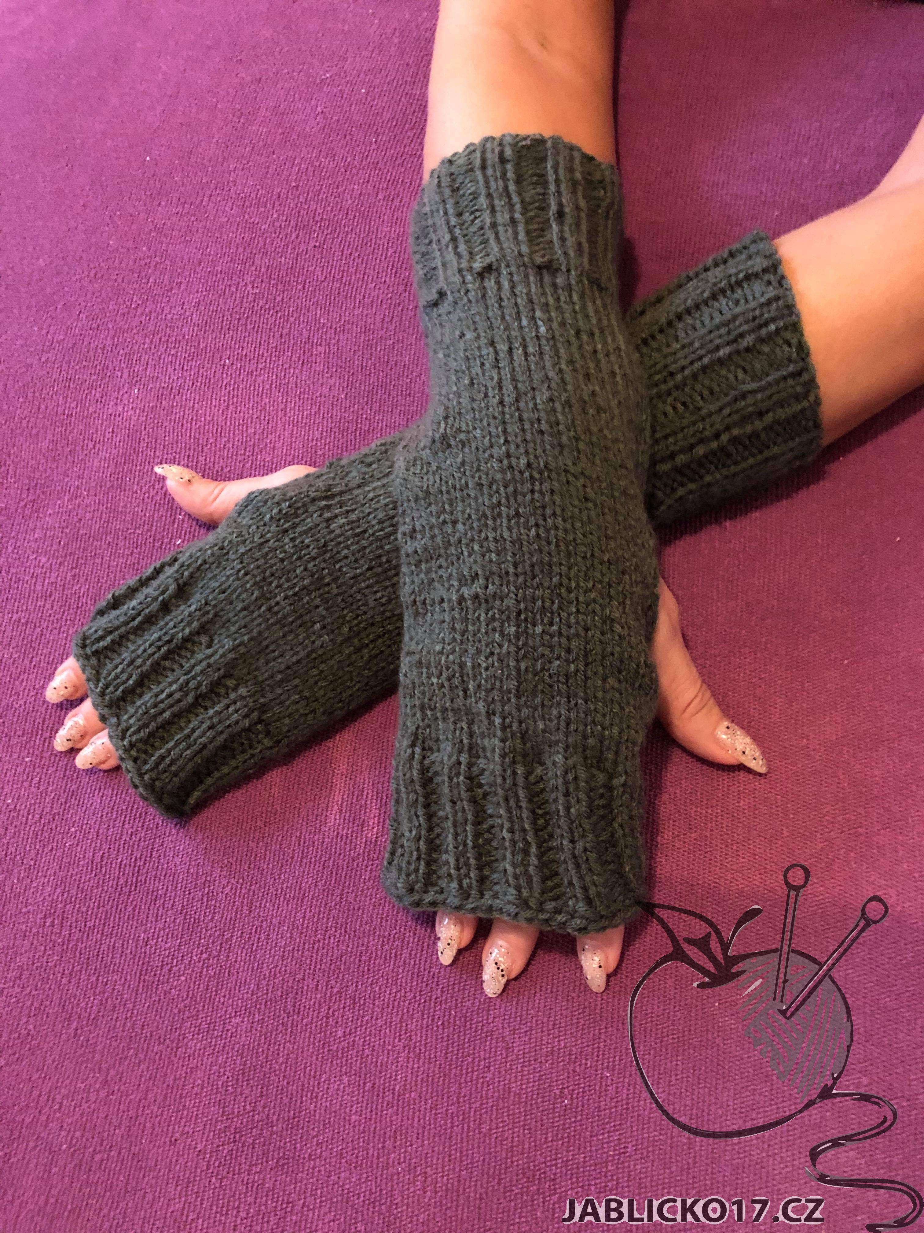 Návleky na ruce - šedá myška