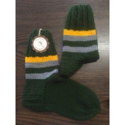 Ponožky zelené s proužky