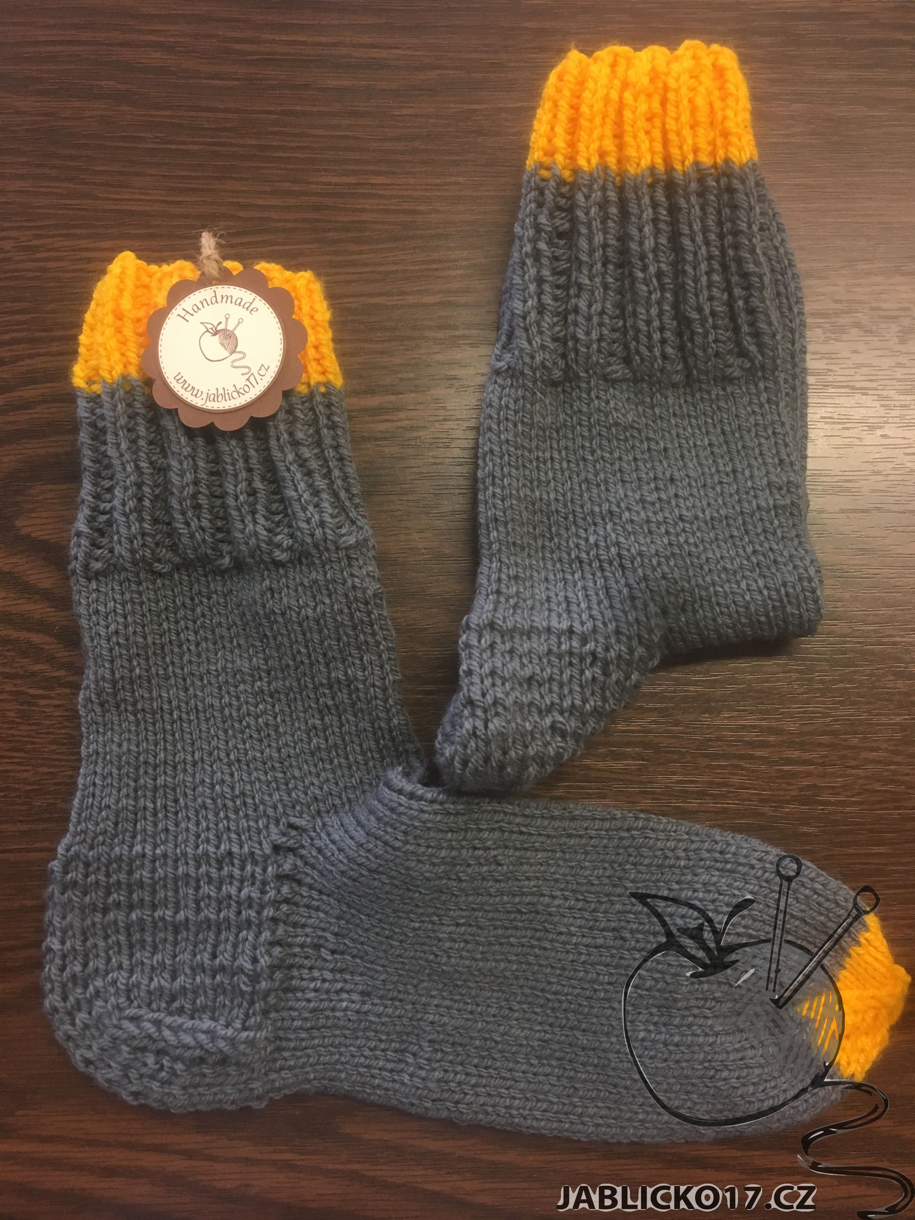 Ponožky šedé s proužky