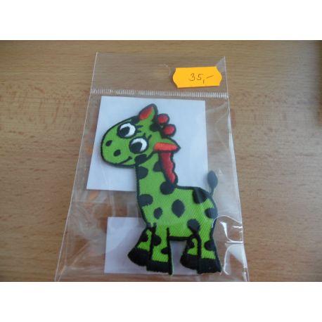 Nažehlovačka - žirafa - modrá