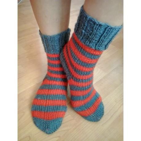 Ponožky zelená pruh