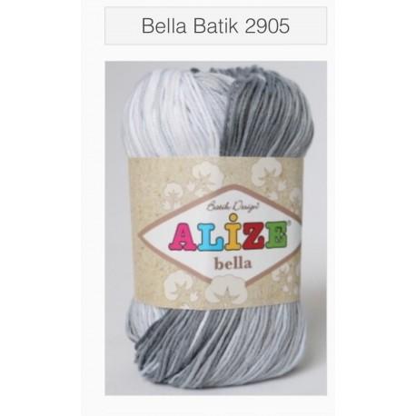 Bella batic - šedo bílá