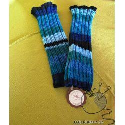 Světle modré návleky na nohy na přání
