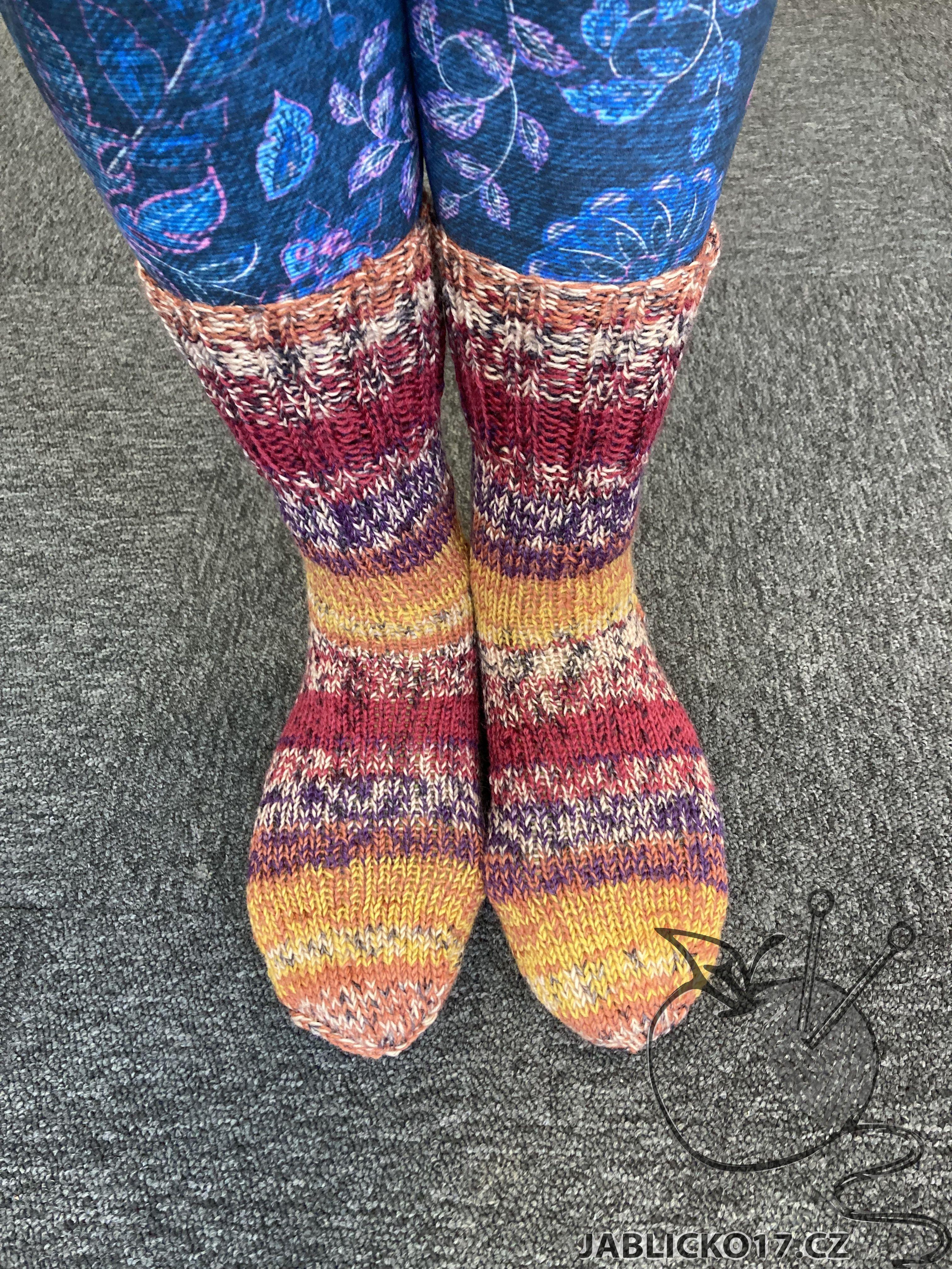 Ponožky samovzorovací
